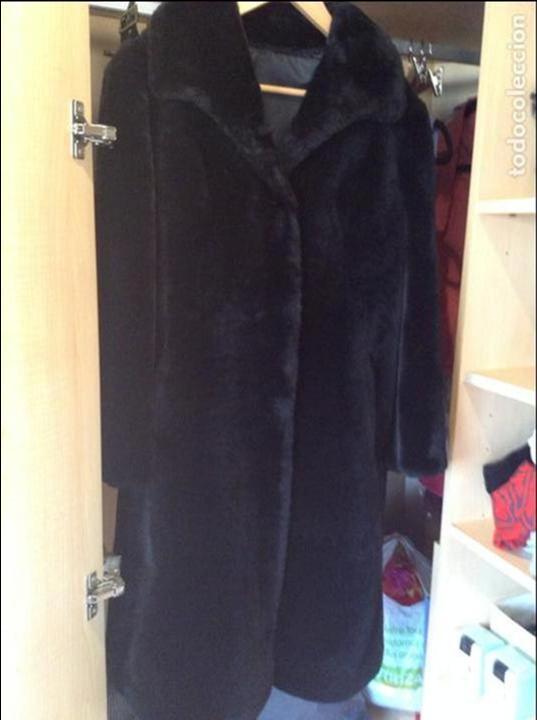 Abrigo mouton negro