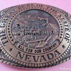 Vintage: HEBILLA BRONCE-TONY LAMA-NEVADA-NUEVA-EXCLUSIVA-VER MEDIDAS Y FOTOGRAFÍAS.. Lote 77610877
