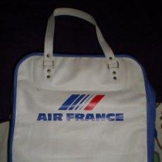 Vintage: VINTAGE BOLSA MALETA DE VIAJE DE MANO AEROLINEAS AIR FRANCE AÑOS 60 SIN USO MEDIDAS FOTOS ABAJO. Lote 77744729