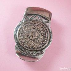 Vintage: 12/CLIP-SUJETA BILLETES-PLATA MEXICANA+ORO 10 KTS-18 GRAMOS-CONTRASTES VARIOS-BUEN ESTADO.(C). Lote 77850089