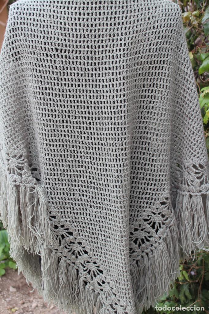Antiguo mant n toquilla chal de lana a punto de comprar - Toca de ganchillo ...