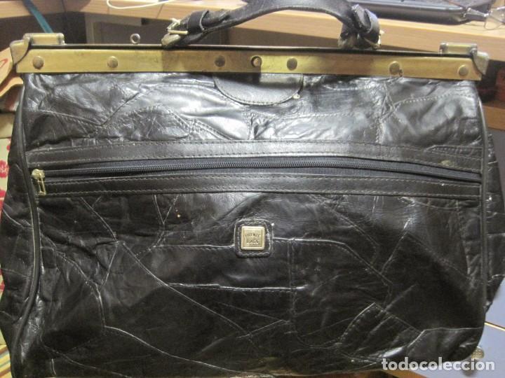 ANTIGUO BOLSO MALETIN DE PIEL 46X37X30 FIRENZE BAGS (Vintage - Moda - Complementos)