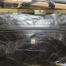 Vintage: ANTIGUO BOLSO MALETIN DE PIEL 46X37X30 FIRENZE BAGS. Lote 78430789
