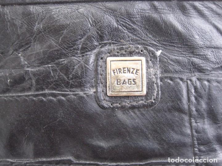Vintage: ANTIGUO BOLSO MALETIN DE PIEL 46x37x30 FIRENZE BAGS - Foto 3 - 78430789