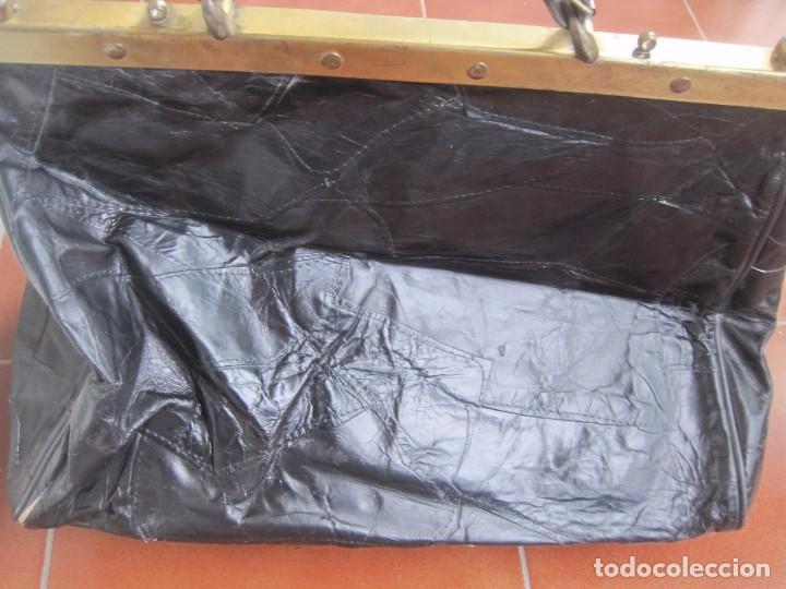 Vintage: ANTIGUO BOLSO MALETIN DE PIEL 46x37x30 FIRENZE BAGS - Foto 5 - 78430789