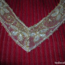 Vintage: PRECIOSO ADORNO BORDADO EN PEDRERIA,ANTIGUO.. Lote 78871017