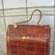Vintage: ORIGINAL BOLSO,CARTERA,MALETIN DE EJECUTIVO,PIEL DE COCODRILO ORIGINAL.. Lote 79104933