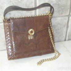 Vintage: VINTAGE,BOLSO DE ORIGINAL PIEL DE SERPIENTE.. Lote 79114373