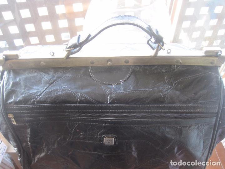 Vintage: ANTIGUO BOLSO MALETIN DE PIEL 46x37x30 FIRENZE BAGS - Foto 8 - 78430789