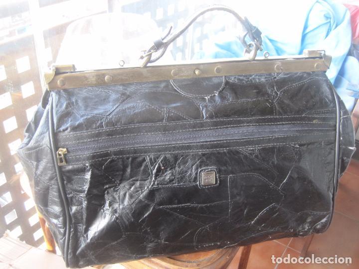 Vintage: ANTIGUO BOLSO MALETIN DE PIEL 46x37x30 FIRENZE BAGS - Foto 12 - 78430789