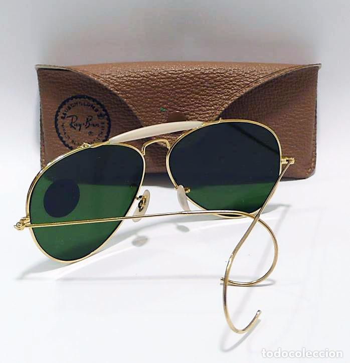 cd83299a82 Vintage: Gafas de sol Ray-Ban modelo aviador en estuche de piel original -