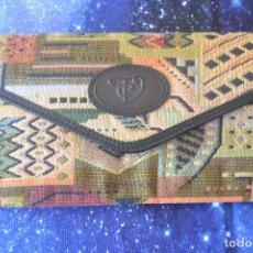 Vintage: MONEDERO DE TELA Y PIEL - VIUDA J.CASTRO - UBRIQUE. Lote 80110725