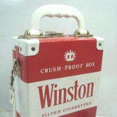 Vintage: PRECIOSO BOLSO/CARTERA - PUBLICIDAD WINSTON AÑOS 70-VINTAGE - BOLSA TABACO 23 CMS. Lote 81272204