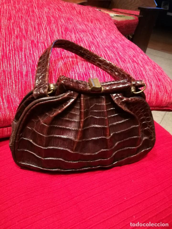 Vintage: Bolso vintage pequeño de piel de cocodrilo - Foto 5 - 81415440