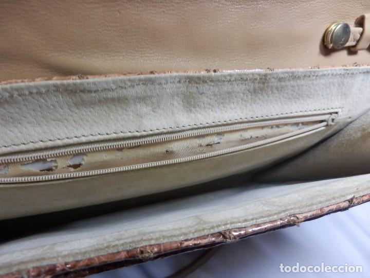 Vintage: Bolso Vintage de piel o similar. 33x29 cm - Foto 5 - 82457288