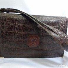 Vintage: BOLSO VINTAGE MUY BONITO EN PIEL COMPARTIMENTADO .. Lote 82457424