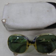 Vintage: ANTIGUAS GAFAS DE PASTA VINTAGE CON FUNDA. Lote 83334740