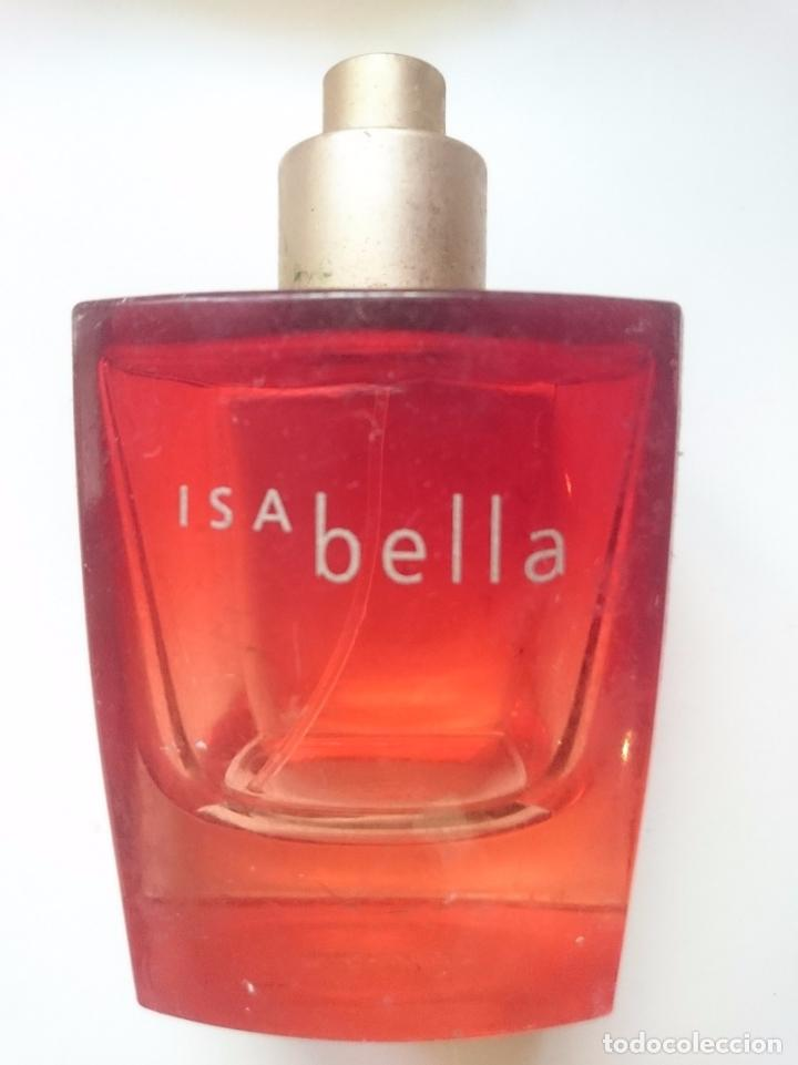BOTE DE PERFUME ISABELLA -AÑOS 90 - VACIO (Vintage - Moda - Complementos)