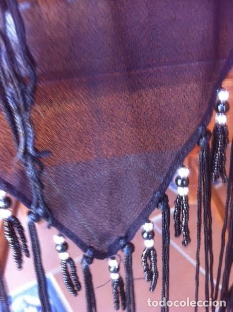 Vintage: Precioso manton pañuelo triangulo MARIANA GARINI largos flecos y pasamanerias - Foto 4 - 83814476