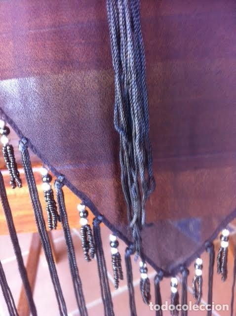 Vintage: Precioso manton pañuelo triangulo MARIANA GARINI largos flecos y pasamanerias - Foto 6 - 83814476