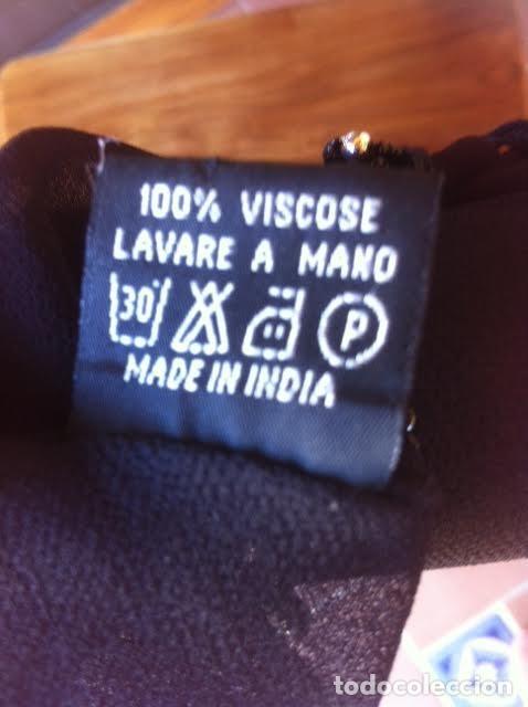 Vintage: Precioso manton pañuelo triangulo MARIANA GARINI largos flecos y pasamanerias - Foto 8 - 83814476
