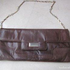 Vintage: BOLSO DE PIEL VINTAGE. Lote 84484176