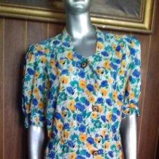 Vintage: PRECIOSO VESTIDO AUTENTICO DE LOS 80. TALLA 46.. Lote 84552908