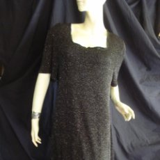 Vintage: VESTIDO CON BRILLANTINA VINTAGE AÑOS 70-80 ULTRA DRESS. TALLA L- XL. Lote 84639972