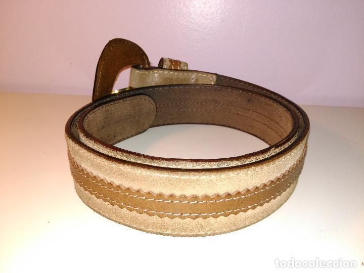 Vintage: Cinturon vintage. años 80. ancho. DOS TONOS DE MARRON. 95 CM - Foto 4 - 85079768