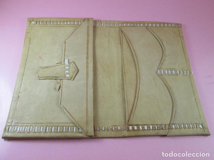 Vintage: billetera/cartera-artesanal-marruecos-piel moruna-como nueva-ver fotos. - Foto 2 - 85865920