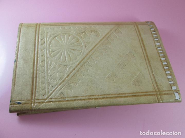 Vintage: billetera/cartera-artesanal-marruecos-piel moruna-como nueva-ver fotos. - Foto 3 - 85865920