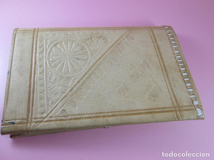 Vintage: billetera/cartera-artesanal-marruecos-piel moruna-como nueva-ver fotos. - Foto 4 - 85865920