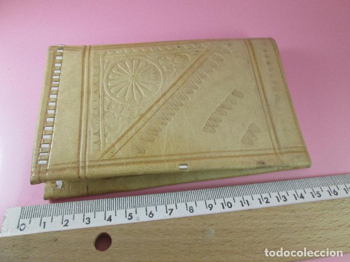 Vintage: billetera/cartera-artesanal-marruecos-piel moruna-como nueva-ver fotos. - Foto 8 - 85865920