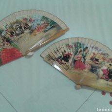 Vintage: PAREJA DE ABANICOS VINTAGE. Lote 85999148