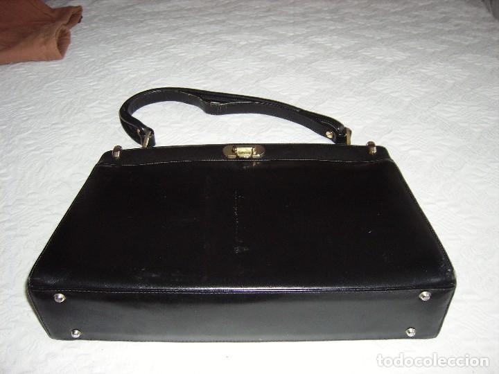b antiguo color bolso Comprar en piel marcado negro de 07rIq0