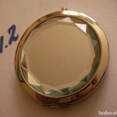 Vintage: ANTIGUO ESPEJO CON ESPEJO Y CRITAL DOBLE BORDE EN METAL. Lote 86315224
