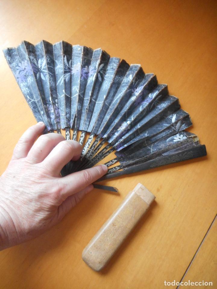 Vintage: Antiguo abanico años 20 con parte de cajita de madera para guardar. Ver descripción - Foto 2 - 86954688
