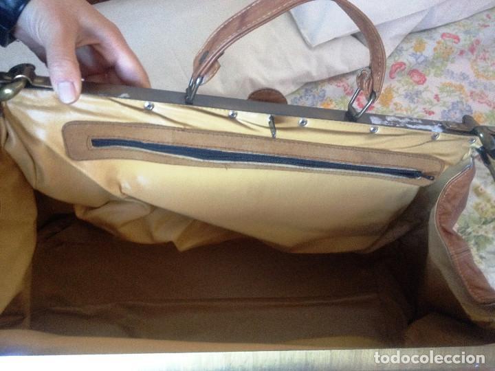 Vintage: Maleta-bolsa de viaje estilo inglés- RETRO- piel auténtica- Buen estado - Foto 2 - 87237392