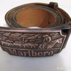 Vintage: CINTURÓN MALBORO, COBRE Y PIEL. Lote 88070628