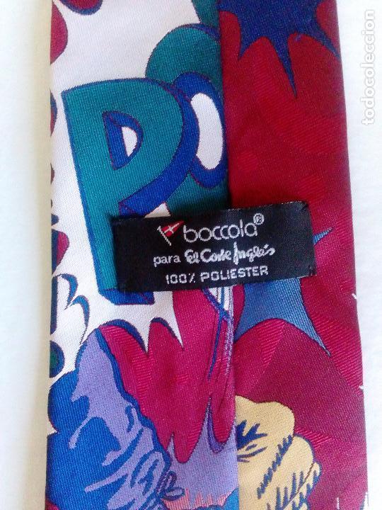 Vintage: Corbata fantasía estampada comic. Boccola. Poliester. - Foto 3 - 178071377