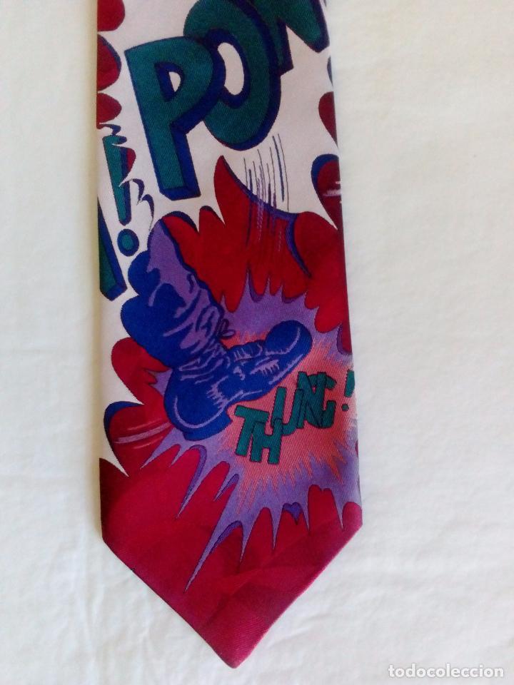 Vintage: Corbata fantasía estampada comic. Boccola. Poliester. - Foto 2 - 178071377