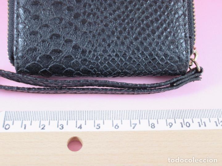 Vintage: cartera/monedero-piel trabajada-ver fotos. - Foto 3 - 89415884