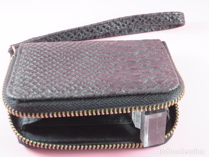 Vintage: cartera/monedero-piel trabajada-ver fotos. - Foto 4 - 89415884