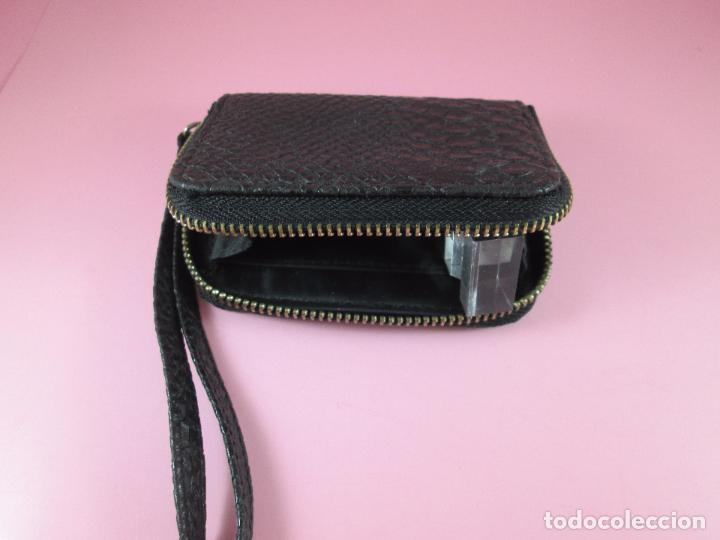 Vintage: cartera/monedero-piel trabajada-ver fotos. - Foto 9 - 89415884