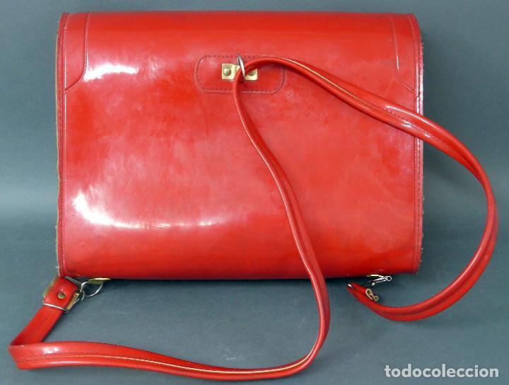 Vintage: Cartera colegio plástico rojo años 70 - Foto 3 - 89653828