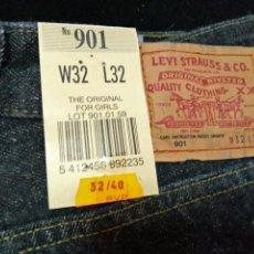 Vintage: LEVIS LEVI'S 901 PANTALÓN TEJANO MUJER ,ORIGINAL AÑOS 70-80,NUEVO CON ETIQUETAS,VINTAGE. Lote 92006335