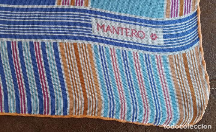 Vintage: PAÑUELO SEDA Diseñador MANTERO - Foto 2 - 93793435