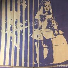 Vintage: PAÑUELO LOEWE SEDA ITALIANA HOMENAJE VELAZQUEZ MENINA 86 X 86 CMS BUEN ESTADO. Lote 94710579