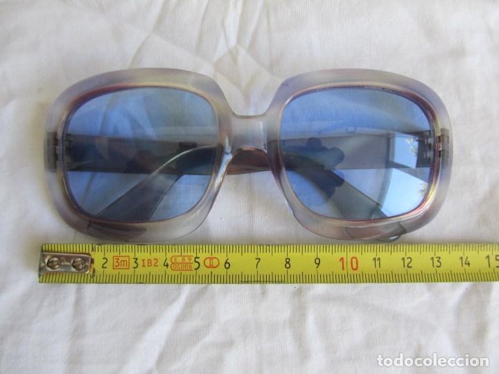 Vintage: Gafas de sol con lentes azules y pasta color lila - Foto 2 - 94986883