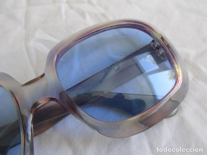 Vintage: Gafas de sol con lentes azules y pasta color lila - Foto 4 - 94986883